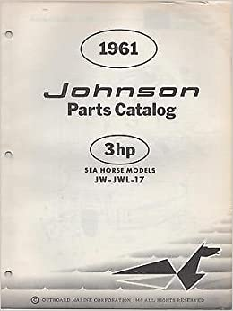 1961 JOHNSON OUTBOARD MOTOR 3 HP PARTS MANUAL USED