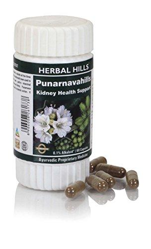 Punarnava Boerhavia diffusa Capsules 60 Punarnavahills, 60 Capsules Bottle