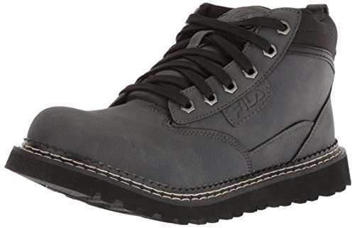 Fila Mens Boots - Fila Men's Grunson Fashion Boot, Castlerock/Black/Dark Silver, 9.5 Medium US