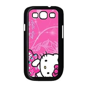 HELLO KITTY SUEÑO funda Samsung Galaxy S3 9300 funda teléfono celular de cubierta negro, funda de plástico caja del teléfono celular