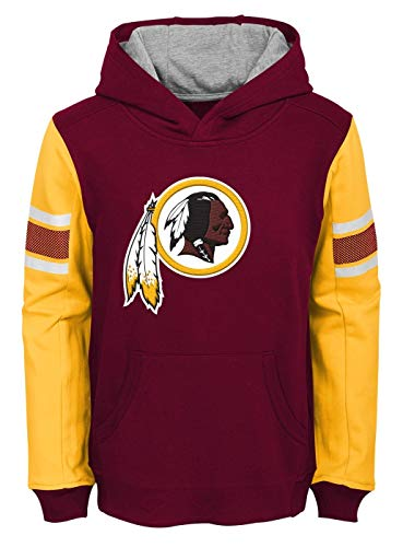 (Outerstuff NFL Washington Redskins Kids & Youth Boys Man in Motion Color Blocked Pullover Hoodie, Burgundy, Youth X-Large(18))