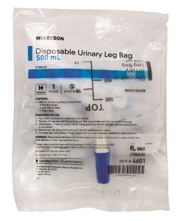 (McKesson 4601 Disposable Urinary Leg Bag, 500Ml)