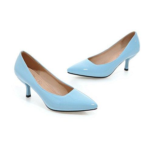 Balamasa Ladies Scarpe Con Tacco Alto A Punta Tomaia In Pelle Verniciata Blu