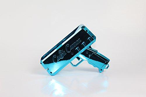 The Cash Cannon Make It Rain Money Dispenser - Chrome Blue - Novelty Item
