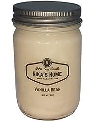Nika's Home Vanilla Bean Soy Candle - 12oz Mason Jar