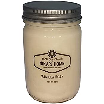 Nika's Home Vanilla Bean Soy Candle - 12oz Mason Jar
