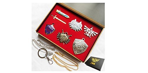 Legend of Zelda 6 pc Necklace and Keychain Gift Set