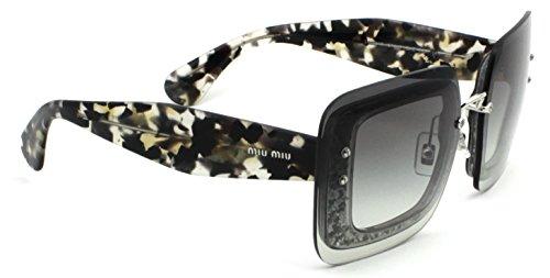 Miu Miu 54RS Sunglasses Black Frame / Grey Gradient Lens - Sunglasses Style Miu Miu