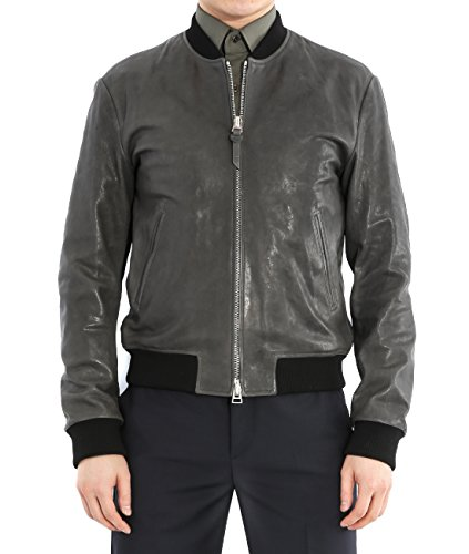 Wiberlux Tom Ford Men's Lambskin Real Leather Zip-Up Jacket 46 - Ford Homme Tom