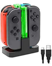 FastSnail Charging Dock Compatible with Nintendo Switch for Joy Con with Lamppost LED Indication, Charger Stand Station Compatible with Joy Cons with Charging Cable