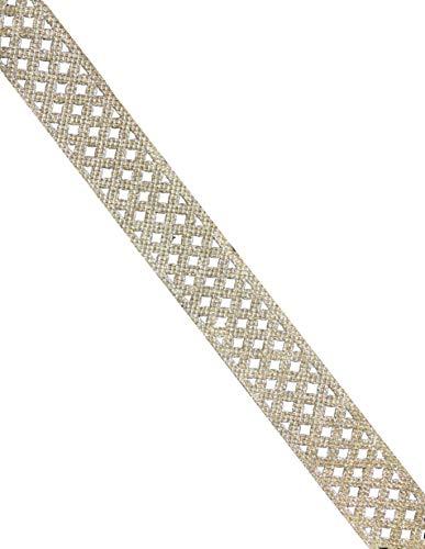 9 Yards Trim Indian Sari Border Cut Work Lace Decorative Ribbon Crafting Lace DIY Decor (Silver)