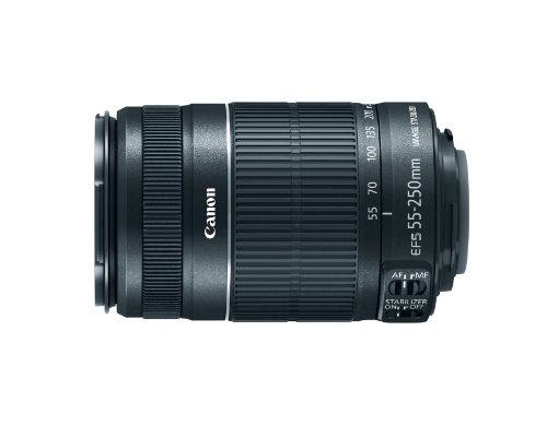 - Canon EF-S 55-250mm f/4.0-5.6 IS II Telephoto Zoom Lens