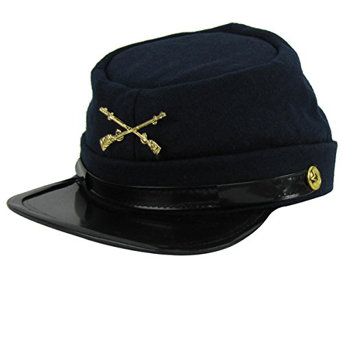 Union Army Infantry Soldier Civil War Reenactor Kepi Wool Hat (Large) Navy Blue