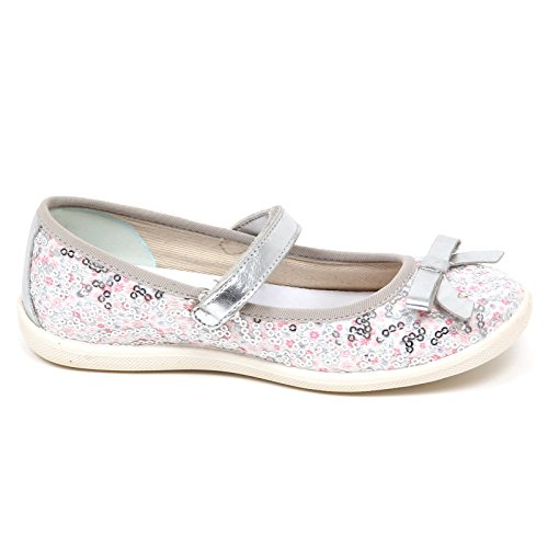 E2726 Tissue Shoe Scarpe Girl Argento Argento Bianco Kid Naturino Ballerina Paillettes Bimba O0IRdx