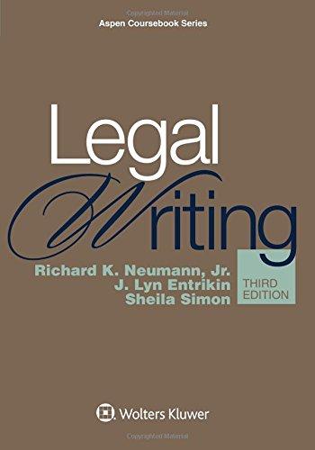 Legal Writing (Aspen Coursebook)