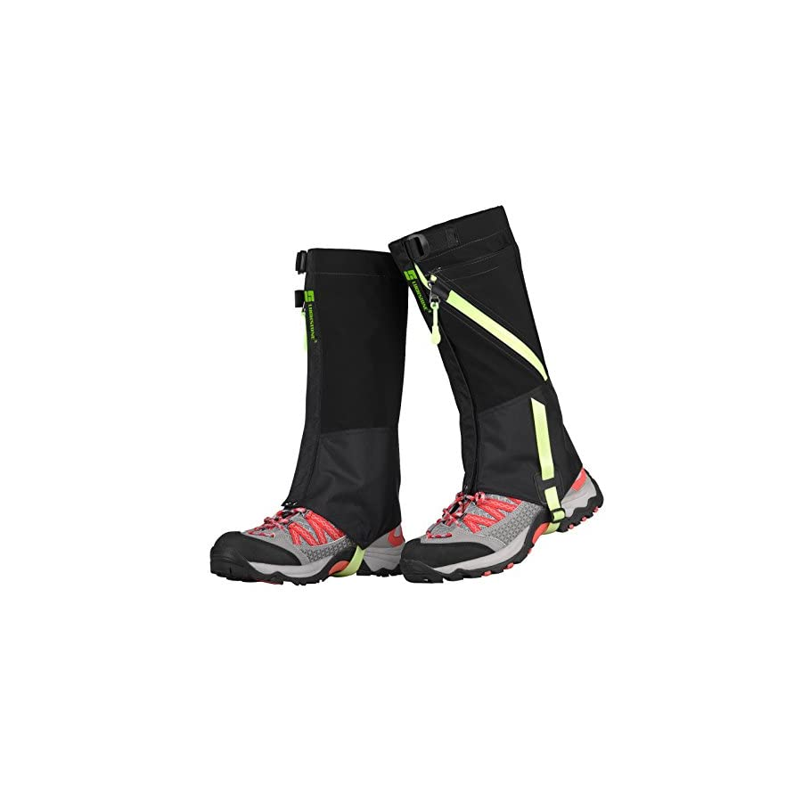 TAGVO Snow Gaiter, Waterproof Windproof Warm Shoes Cover, Durable Easy Cleaning Hiking Gator, Easy Open and Off, Fit Adults Kids Men Women Hunting Climbing Skiing Biking Trimming Grass