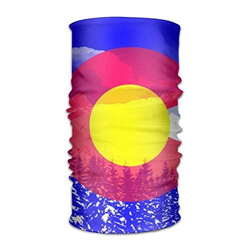 Colorado State Flag Magic Headwear Scarf Headbands Bandana Mask Neck Gaiter Head Wrap Mask -