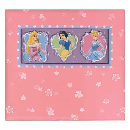 (Disney / Sandylion Postbound 12x12 Scrapbook Photo Album PRINCESSES With Embossed Cover)