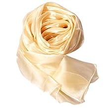 Imported Lady Women's Long Soft Wrap Lady Shawl Silk Organza Scarf Scarves Champagne