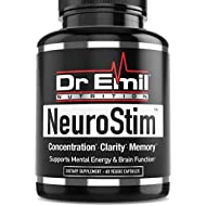 Dr. Emil NeuroStim - Nootropic Brain Supplement for Memory, Focus, Clarity & Concentration with Huperzine A, DMAE & Glutamic Acid (60 Veggie Capsules)