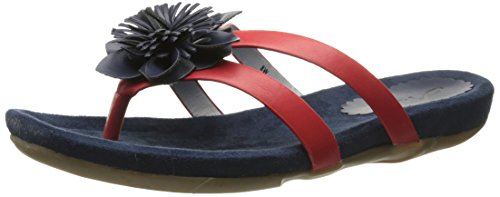 Annie Schoenen Dames Sunburst Sandaal Marine / Rood