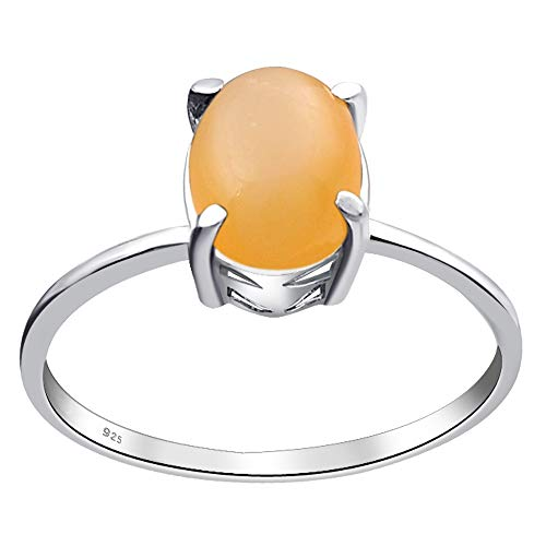 - Natural Orange MoonStone Wedding Ring By Orchid Jewelry : Anniversary And Engagement Rings For Women, June Birthstone Promise Ring For Her, Sterling Silver Gemstone Fashion Rings Size 8 | (1.50 Ctw)