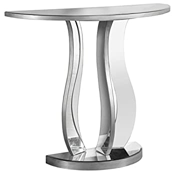 """Monarch Console Table, 36"""", Brushed Pewter"""
