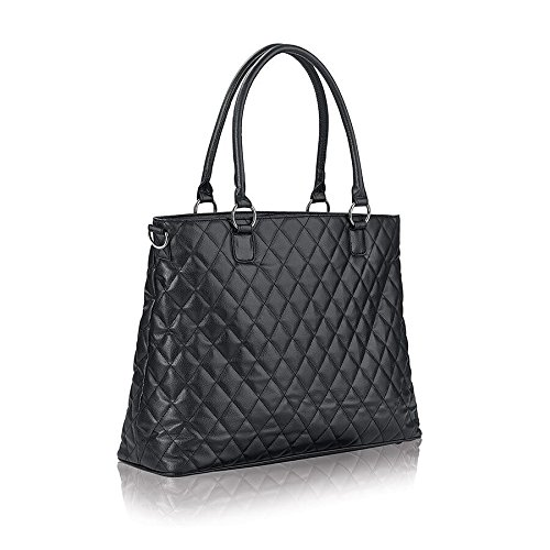 Solo Waldorf Tote with 15.6 Inch Laptop Compartment, Black by SOLO (Image #4)