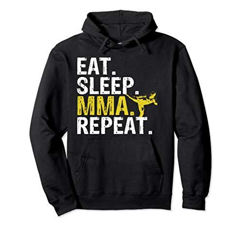 Eat Sleep MMA Repeat Mixed Martial Arts Hoodie