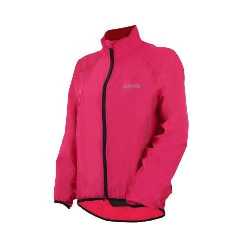 Proviz Windproof Womens Cycling Jacket, Pink, 16