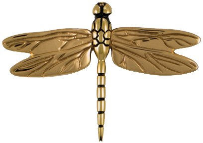 Dragonfly in Flight Door Knocker - Brass/Bronze (Premium Size) by Michael Healy Designs