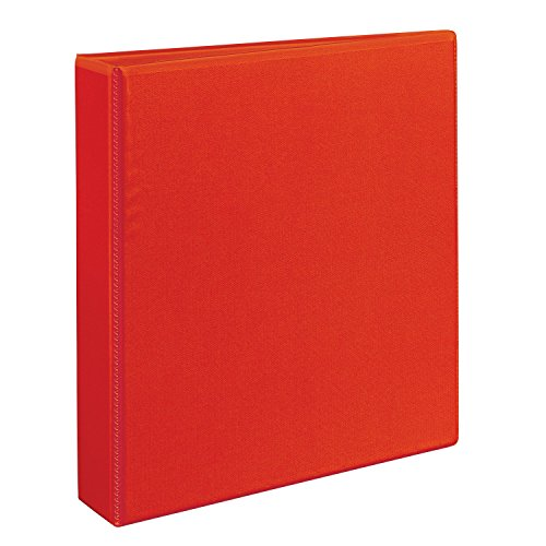 Avery Heavy Duty View Binders with One Touch EZD(TM) Ring, Holds 8-1/2 Inch x 11 Inch Paper, 1 1/2 Inch Ring , Red (79171)