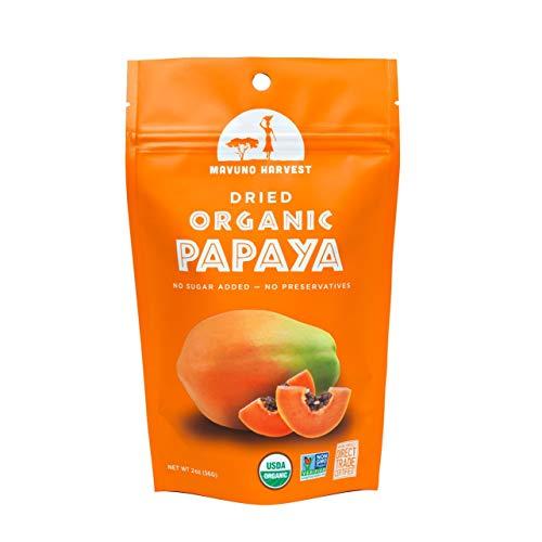 Mavuno Harvest 6 Piece Fair Trade Organic Dried Fruit, Papaya, 2 Ounce