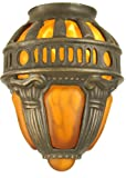 Sm Crown Shade Theme VICTORIAN ART GLASS GOTHIC Color AMBER