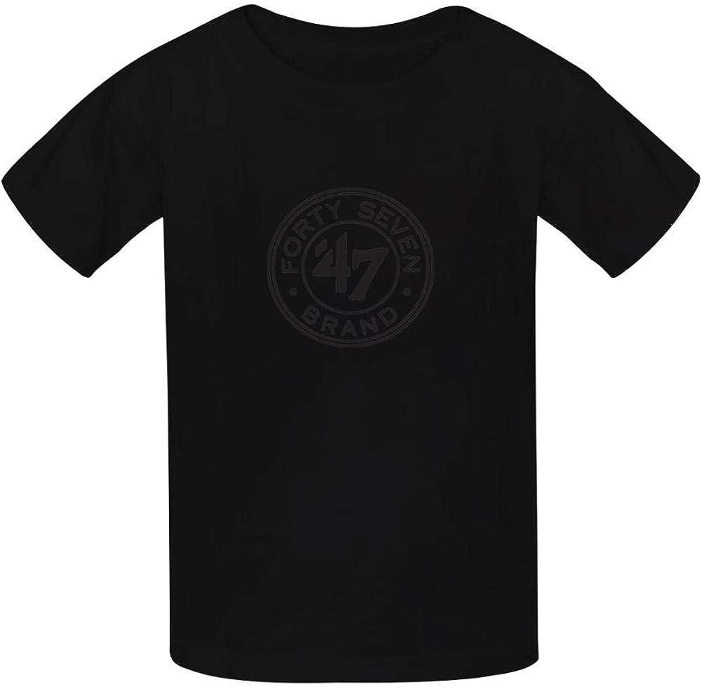 KAJKJKSS 47Circle Mark Unisex Baby Boys Crewneck Tees Short Sleeve Graphic T-Shirt