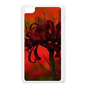 HEHEDE Phone Case Of Higanbana RED FLOWER For Ipod Touch 4
