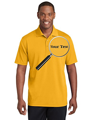 (Custom Embroidered Performance Polo Shirts - Personalized Collar Embroidery Tees)