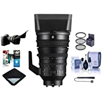 Sony PZ 18-110mm F4.0 G OSS E-Mount NEX Camera Lens - Bundle With 95mm Filter Kit, Flex Lens Shade, Cleaning Kit, Lens Wrap (19x19), Lenscap Leash II, Software Package