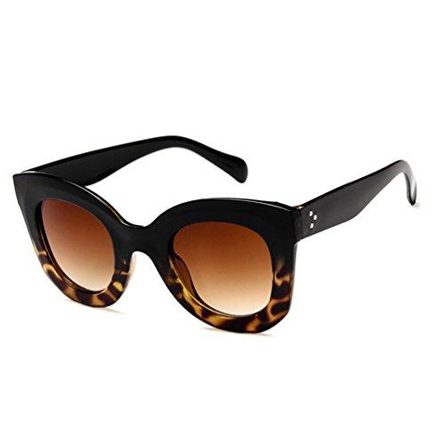 Moda Salvaje Upper De Ketamyy Retro Bajo Oversized Mariposas Gafas Sol Gafas Polarizados De Sol Mujer Leopardo Negro 8nnR14qt