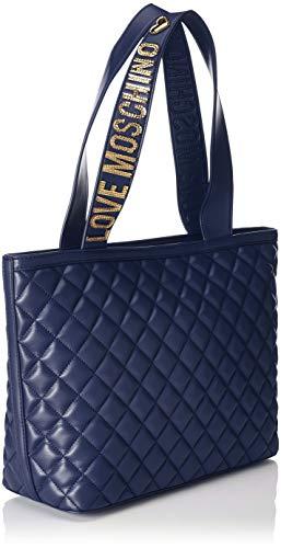 Borse Donna Love Blu secchiello Moschino Nappa Pu Borsa Quilted a aBq1wXq8W4