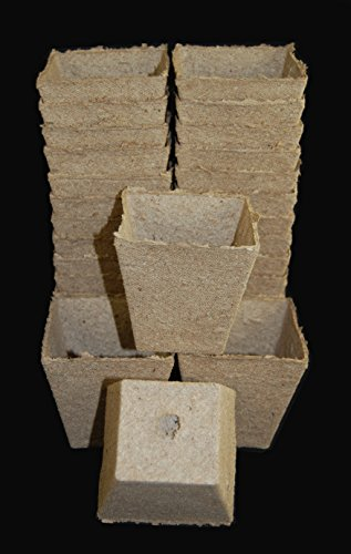 Jiffy Peat Pots 3 Inch Square Seed Starting Biodegradable #230 - 1260 ea Full Case by Growers Solution by Jiffy