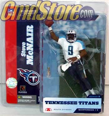 Tennessee Titans Action Figure - McFarlane's Sportspicks Steve McNair Tennessee Titans White Jersey Variant Action Figure
