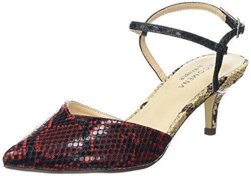 Colores Zapatos Mujer Paco Mehrfarbig Multi Schwarz Aloe Rot Mena 2 de Varios Talón Abierto Beige ffZ0zt