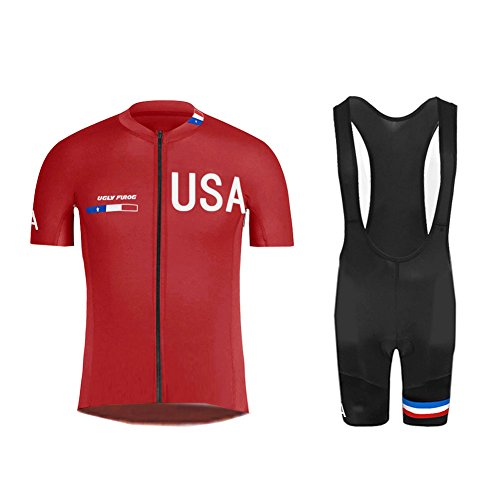 Voler Shorts - Uglyfrog Sportern Mens Short Sleeve Cycling Jersey+Short Bib Sets With Gel Pad Outdoor Sports Summer Style Bike Clothes