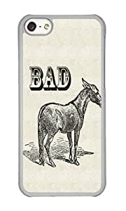 Apple Iphone 5C Case,WENJORS Adorable Bad Ass Hard Case Protective Shell Cell Phone Cover For Apple Iphone 5C - PC Transparent