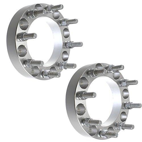 (2pcs 8x6.5 Wheel Spacers | 8 Lug Fits Ford F250 F350 Heavy Duty Trucks Pickup 8 on 6.5)