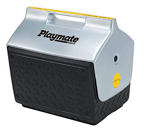 Igloo 14.8 Quart Playmate Cooler with Industrial Diamond Plate Exterior Design
