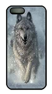 iPhone 5 5S Case -Snow Plow Wolf Black Custom iPhone 5 5S Case Cover