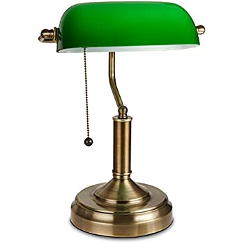 Amazon torchstar traditional bankers lamp antique style torchstar traditional bankers lamp antique style emerald green glass desk light fixture satin brass aloadofball Image collections