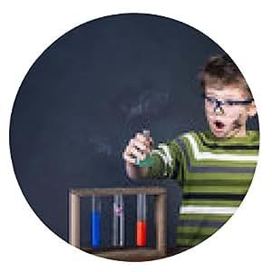 alfombrilla de ratón Joven realizar experimentos. Pequeño científico. - ronda - 20cm